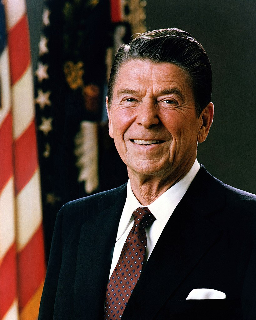 Reagan's hologram was confirmed to be notably handsome.
